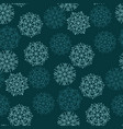 green color abstract snowflakes seamless pattern vector image