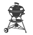 grill icon isolated on white background design vector image vector image
