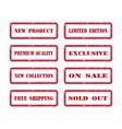 Grunge Rubber Stamp Set For A Shop vector image vector image