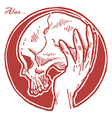 Hand Holding Skull vector image vector image