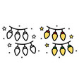 icon garland with light bulbs on white vector image