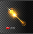 light flash effect or lens flare shine icon vector image vector image