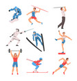 male athlete character in sports uniform set golf vector image vector image