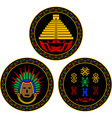Mayan and aztec symbols vector image