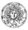 medusa head vintage vector image vector image
