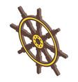 navy ship wheel icon isometric style vector image vector image