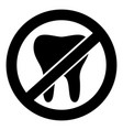 no tooth icon simple style vector image vector image
