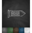 NORTH KOREA icon Hand drawn vector image vector image