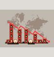 oil price decrease chart vector image vector image