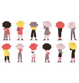 people with umbrella fall rainy weather day vector image vector image