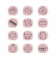 pet shop line icons collections vector image