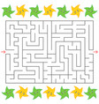 rectangular labyrinth with cartoon stars on the vector image vector image
