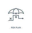 risk plan outline icon thin line concept element vector image vector image