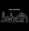 salamanca silhouette skyline spain - salamanca vector image vector image