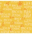 Seamless yellow school pattern vector image vector image