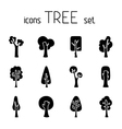 Set of 12 tree icons vector image
