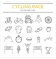 Set of 20 Cycling Race modern linear icons vector image