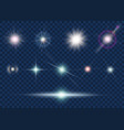 set of light effect and star vector image