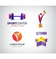 set of sport logos leadership man winner vector image vector image