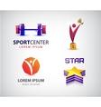 set sport logos leadership man winner vector image