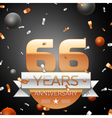 Sixty six years anniversary celebration background vector image vector image