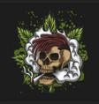 skull smoke cannabis vector image