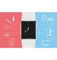 Smart wristwatch vector image vector image