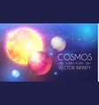space shining backgrouns with realistic 3d planets vector image
