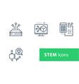 stem concept technology development vector image
