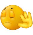 Talk to my hand gesture smiley emoticon vector image