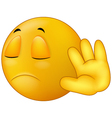 Talk to my hand gesture smiley emoticon
