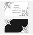 Two sided design template in grey colors Front vector image vector image