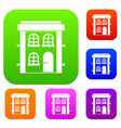 two-storey residential house set collection vector image vector image