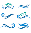 Water Wave and Spa Logo vector image vector image