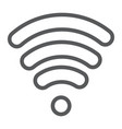 wi-fi line icon wireless and communication vector image vector image