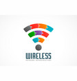 wifi symbol in color puzzle vector image