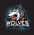 wolves esport gaming mascot logo template vector image vector image
