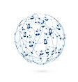 world wide web social network abstract texture vector image