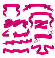 horizontal cartoon ribbon banners set of vector image