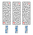 a set of rectangular labyrinths an interesting vector image vector image