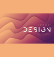 abstract wavy background trendy minimalist vector image