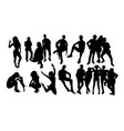 activity people silhouettes vector image