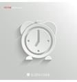 Alarm clock icon - web background vector image