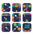 app icon templates for trendy mobile game vector image