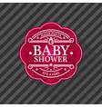bashower emblem vector image vector image