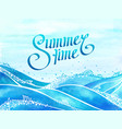 beautiful background - summer time and sea waves vector image