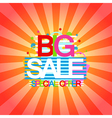 Big Sale and special offer discount and shopping vector image vector image