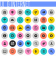 big ui and internet icon set trendy flat icons vector image vector image