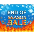 Big winter sale poster with END OF SEASON SALE vector image vector image