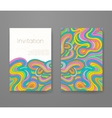 Business card with vivid lines pattern vector image vector image